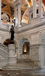 Library of Congress Great Hall Interior with Grand ...