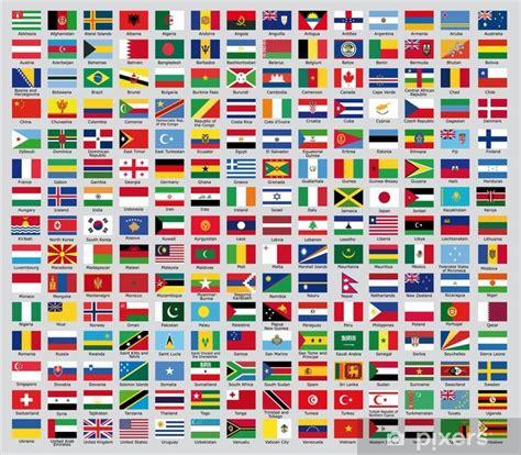 sticker de update de nationale vlaggen de wereld