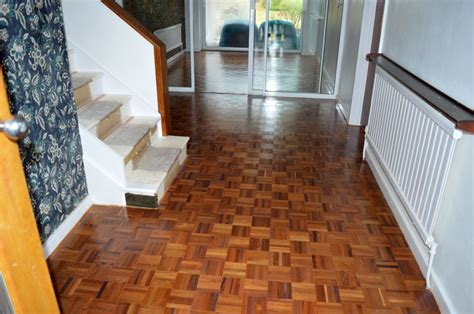 Finger Parquet Floors Gloss Lacquered. Croydon Decorators Home Outlet Decoration Wallpaper Decor Fargo Nd Zebra Red Shed Diwali Lights Hanging Ideas For Dining Rooms