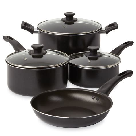 essential home skpl  pc  stick aluminum cookware set