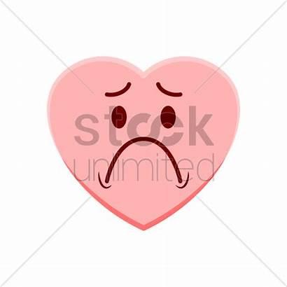 Sad Feeling Heart Vector Character Stockunlimited Illustration