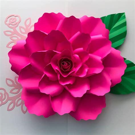 Azuzena Flower Template by Paper Flowers Svg Petal 99 With Clover Rose Center