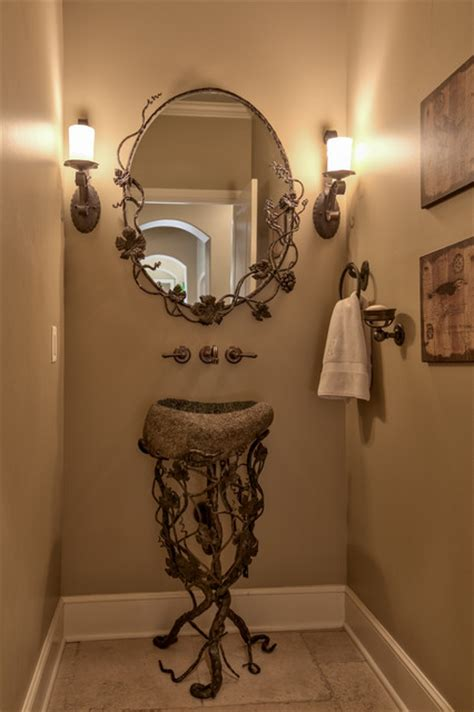 french country legacy mediterranean powder room