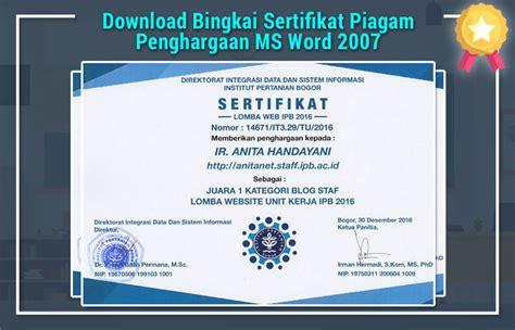 bingkai sertifikat msword
