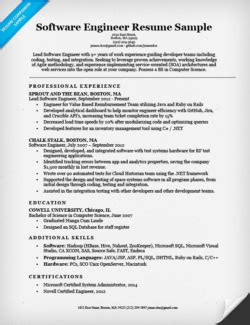 software engineer resume template 6 100 images