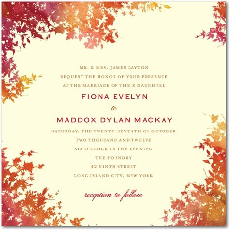 autumn wedding invitations fall wedding invitations and inspiration 21st bridal world wedding ideas and trends