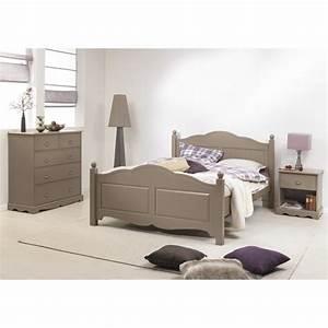 Commode Chambre Adulte : chambre taupe lit 140 commode chevet beaux meubles pas chers ~ Teatrodelosmanantiales.com Idées de Décoration