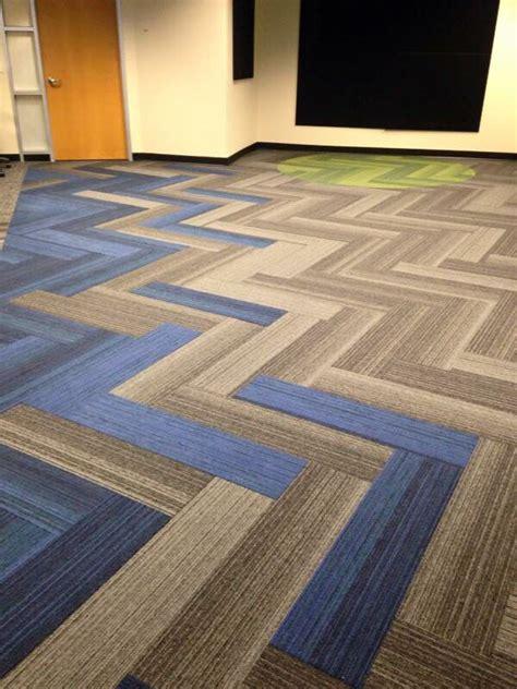 Interface Walk  Plank Herringbone Carpet Tiles Floor
