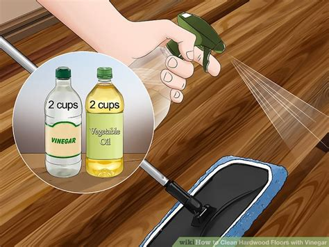 cleaning floors with vinegar 3 ways to clean hardwood floors with vinegar wikihow