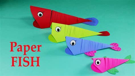 paper crafts  kids easy paper fish crafts diy