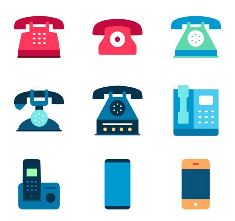 phone set 41 phone icon packs vector icon packs svg psd png