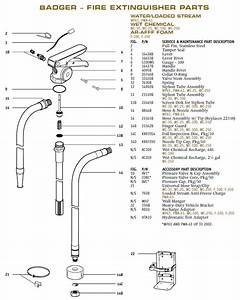 Badger 21539b Fire Extinguisher Parts