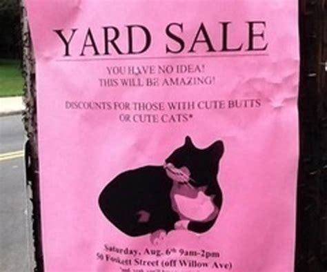 honest yard sale signs    hilariously brutal