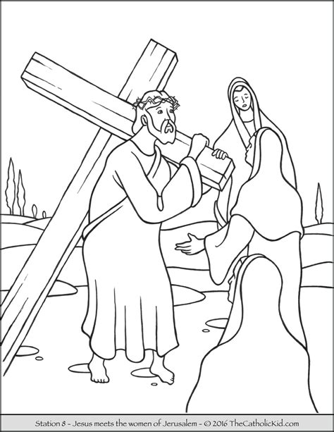 stations of the cross coloring pages station of the cross coloring page sketch coloring page