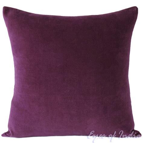 24 quot large purple velvet decorative couch pillow cushion