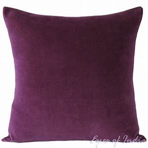 24quot large purple velvet decorative couch pillow cushion With big purple pillow