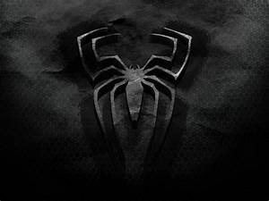 3D Movies Wallpaper, Spiderman Old Logo, on Black ...