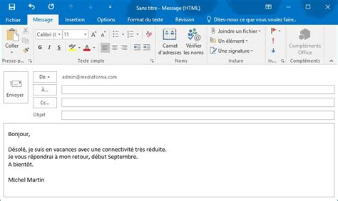 outlook message absence bureau outlook 2016 répondre automatiquement aux messages reçus