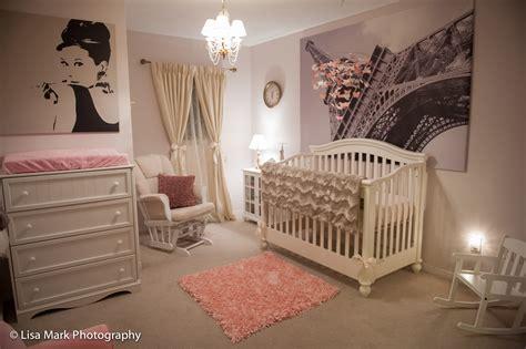 Nursery Room : Jillian's Vintage Pink & Gold Paris Themed Nursery