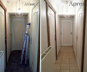 travaux d39une entree montee d39escalier et d39un couloir With peindre une entree et un couloir 12 portes dentrees
