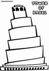 Tower Coloring Pages Babel Building Colorings sketch template