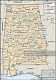 Political Map Of Alabama, Political Map Of The State Of ...