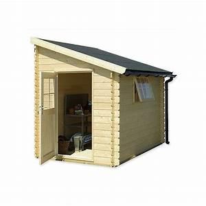 abri de jardin adossable bois 5 m2 ep28 mm plantes et With abri de jardin adossable