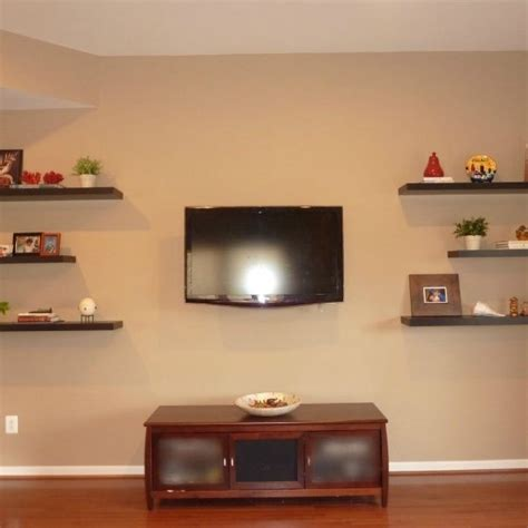 wall shelves tv 1000 images about tv shelf on floating Floating