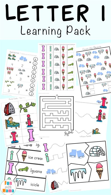 letter i worksheets activities for preschool with 603 | Letter I Learning Pack P
