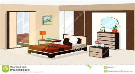 nightstand with drawers 3d isometric bedroom design vector illustration of modern