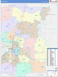 Kent County, MI Wall Map Color Cast Style by MarketMAPS