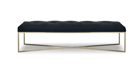 Maison 55 raffles modern classic rectangular wood coffee table. Tablet Charme Black Rectangular Ottoman - Ottomans - Article | Modern, Mid-Century and ...