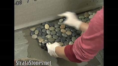 pebble tile shower installation  diy network youtube