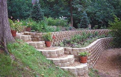 backyard retaining wall keystone retaining garden wall jpg landscape on a slope pinterest retaining walls garden