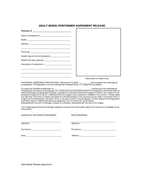20461 model release form release form 100 free templates in pdf word excel