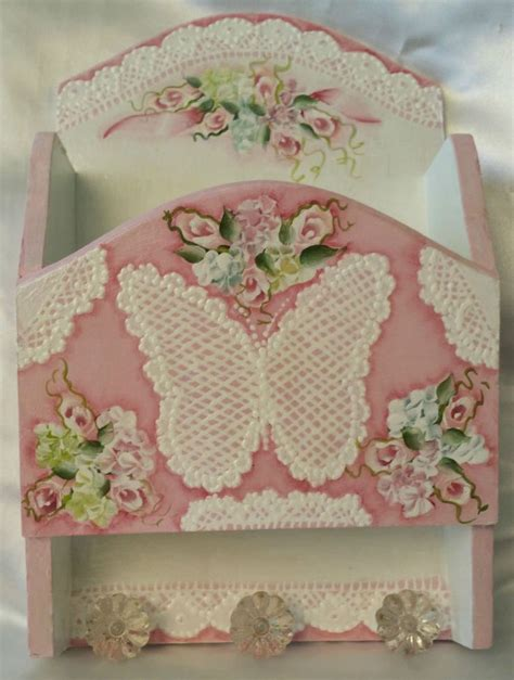 target shabby chic hydrangea hand painted wood wall pocket cottage chic pink roses hydrangeas shabby lace hp lace cottages