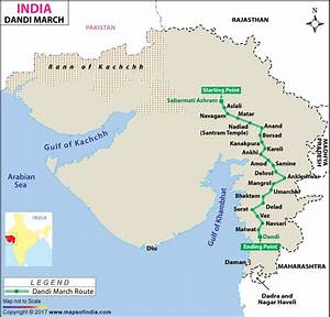 Dandi March India Map Quotes