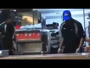 McDonalds Worker Beats Customer (Original) - YouTube