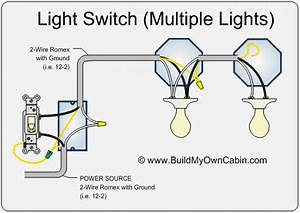 Two Light Fixtures With Switch Wiring Diagram