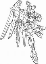 Coloring Gundam Pages Printable sketch template
