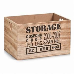 Caisse Bois Rangement : caisse de rangement bois vintage zeller 15123 storage ~ Teatrodelosmanantiales.com Idées de Décoration