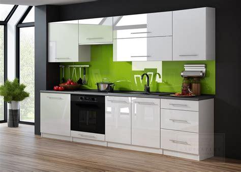Kaufexpert  Küchenzeile Linda Weiß Hochglanz 240 Cm Küche