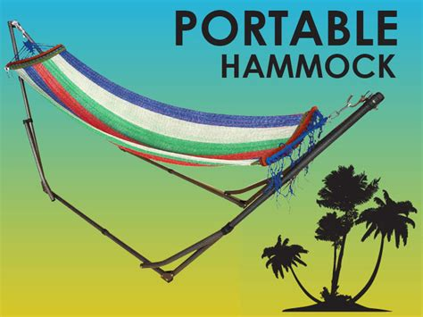 portable hammock  standing foldable stand room outdoor camping outdoor festivals
