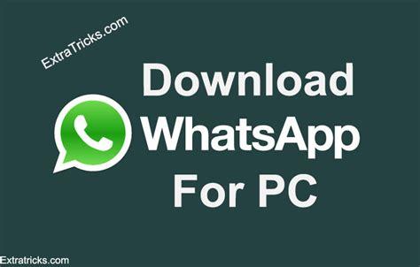 whatsapp for pc laptop in windows 10 8 7
