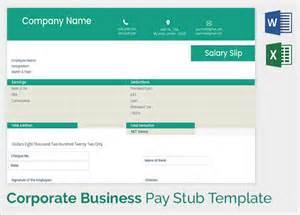 Sample Pay Stub Template Free