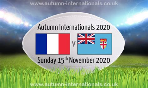France v Fiji | Autumn International | 15 Nov 2020