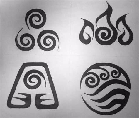 avatar element symbols tribal tattoo design