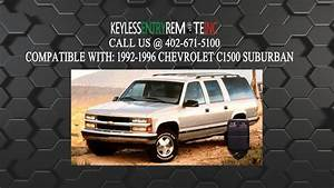How To Replace Chevrolet C1500 Suburban Key Fob Battery