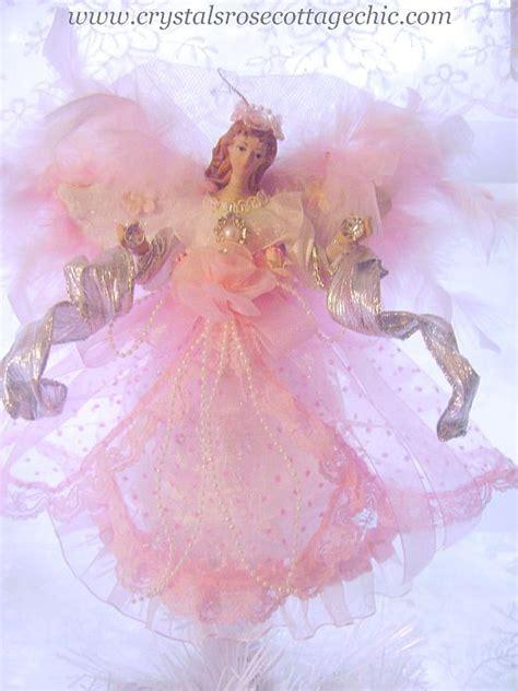 shabby pink angel ornament mini tree topper