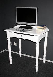 Sekretär Weiß Modern : massivholz sekret r mit tastaturauszug computertisch holz massiv wei ~ Indierocktalk.com Haus und Dekorationen
